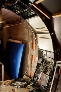 Das Innere eines Schiffs ...