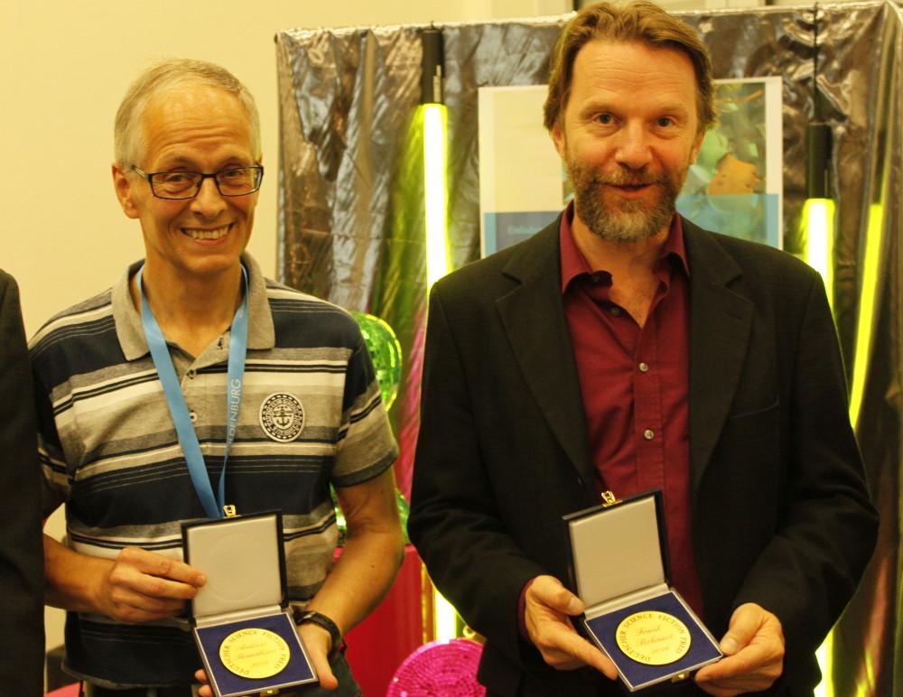 Die Träger des DSFP 2016: Andreas Brandhorst (links), Frank Böhmert (rechts)